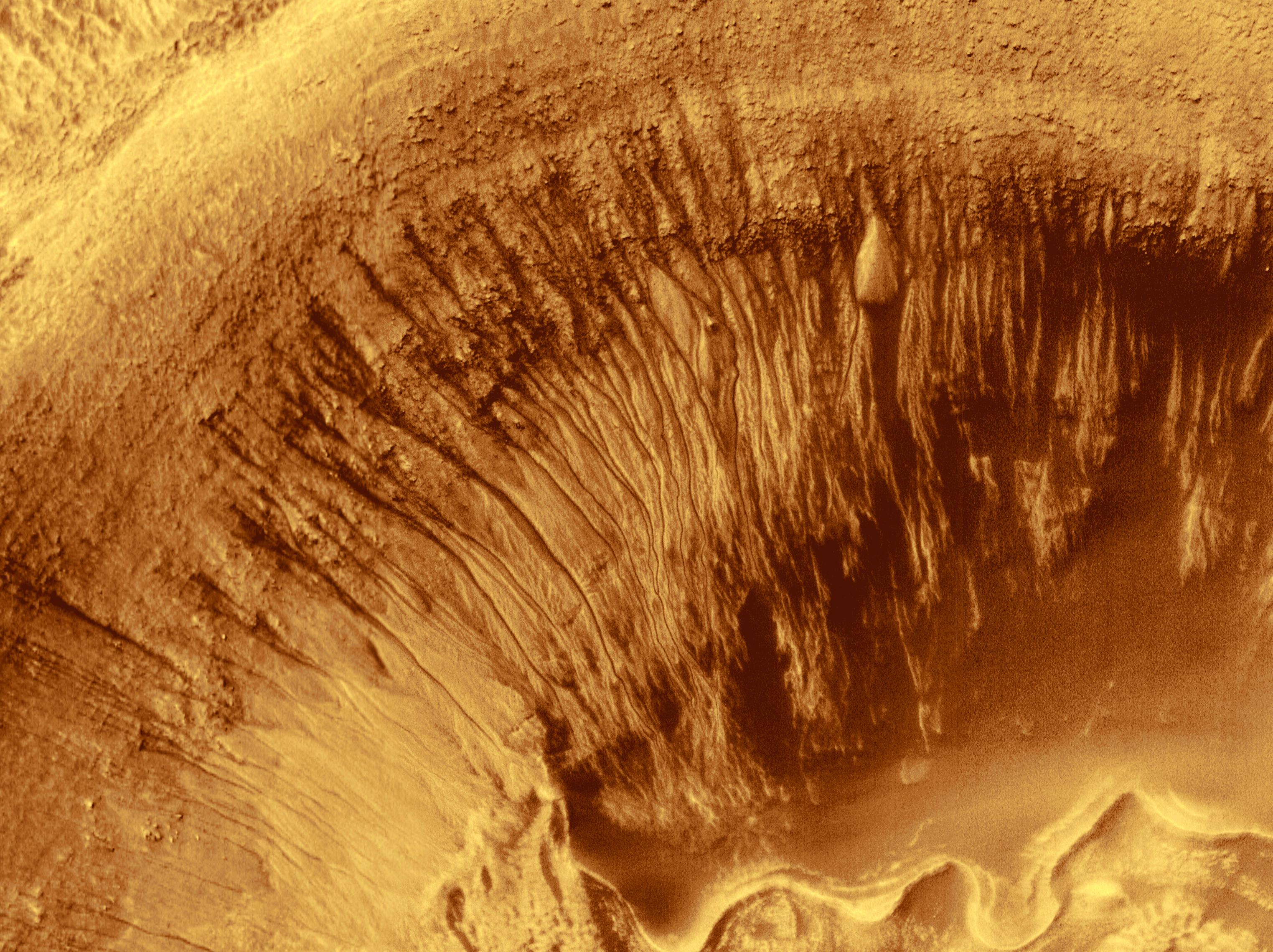 Mars cratere